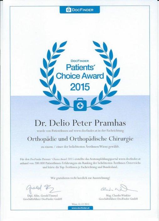 Dr Pramhas Docfinder Peoples Choice Award 2015