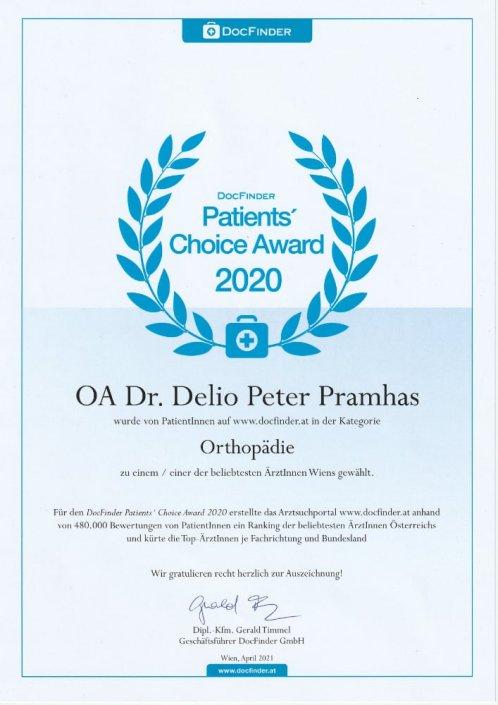 Docfinder Choice Award Wien 2020